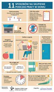 Sposoby na skupienie podczas pracy w domu