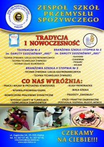Oferta Zespołu Szkół Przemysłu Spożywczego w Kielcach